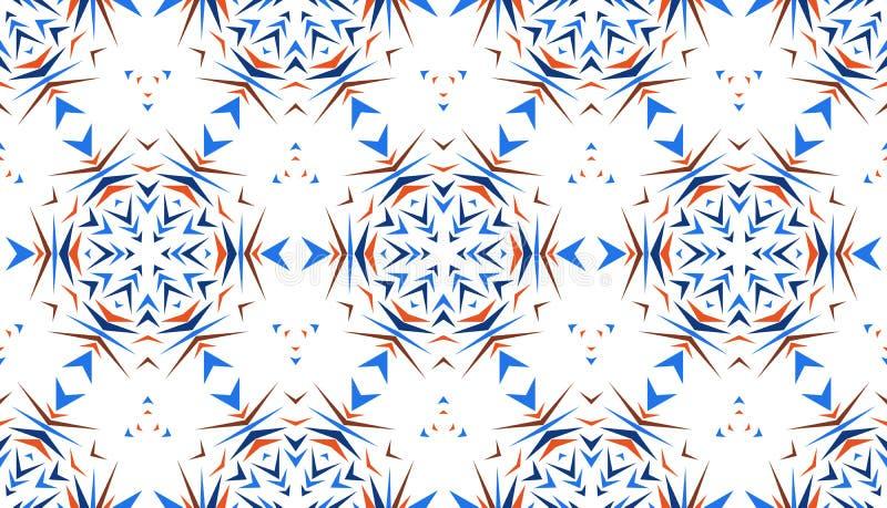 Abstrakt s?ml?s modell med kalejdoskopet Symmetriska modeller av reflexioner av diagram royaltyfri illustrationer