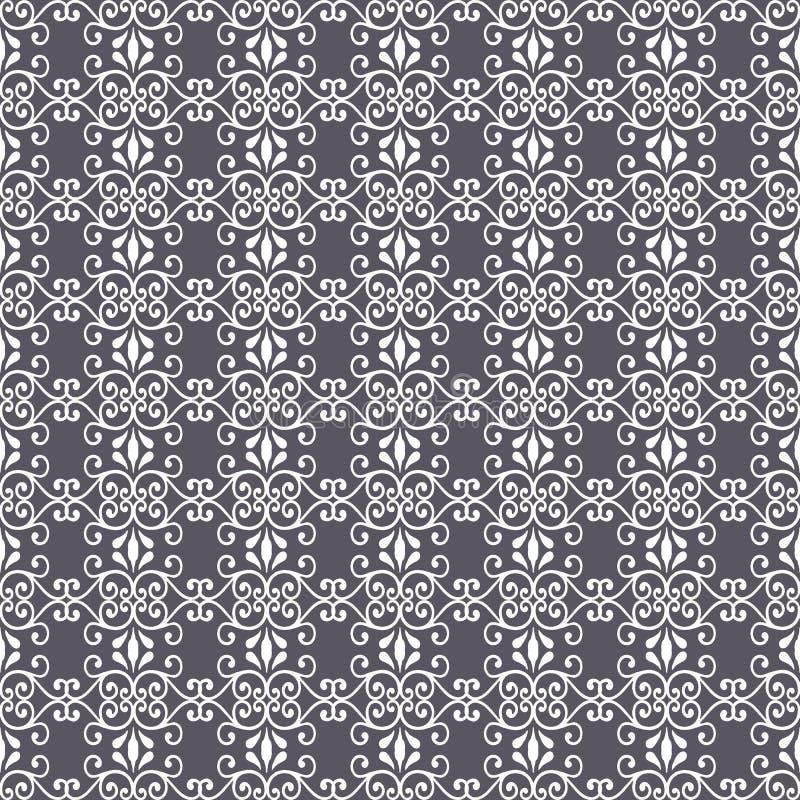 Abstrakt s?ml?s modellillustration av spets- sidor, blom- och virvlar i geometrisk orientering vektor illustrationer