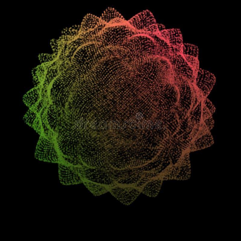 Abstrakt samling för punkter för stjärnafärg Rastervektorillustration teched stock illustrationer