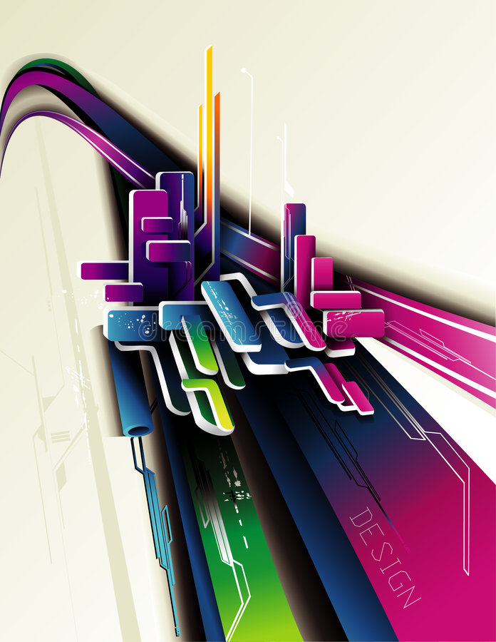 abstrakt sammansättning 3d vektor illustrationer