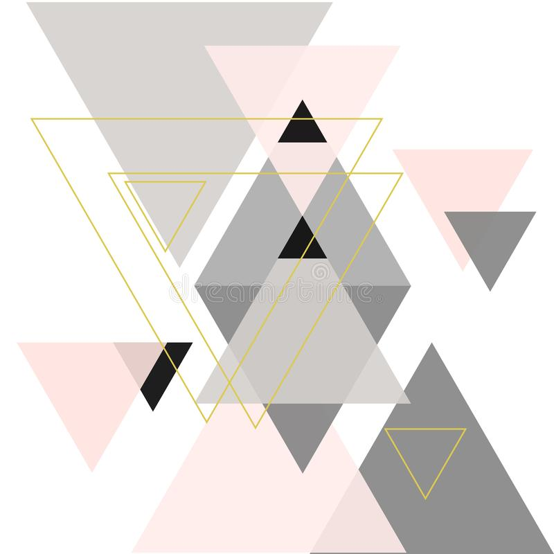 Abstrakt sammansättning av geometriska former stock illustrationer