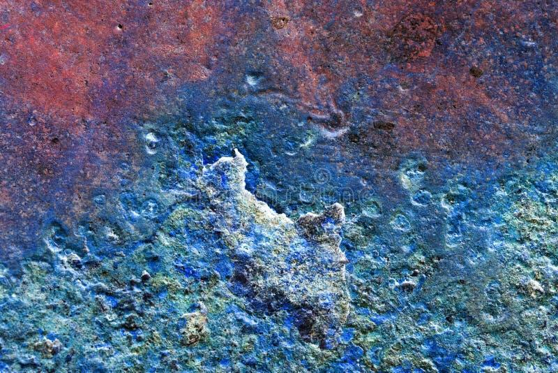 Abstrakt sammansättning med metallisk textur med rost för bakgrunder arkivfoton