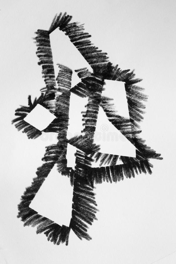 Abstrakt Schwarzweiss lizenzfreies stockfoto