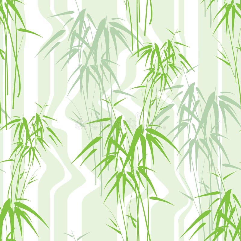 abstrakt seamless bakgrundsbambu royaltyfri illustrationer