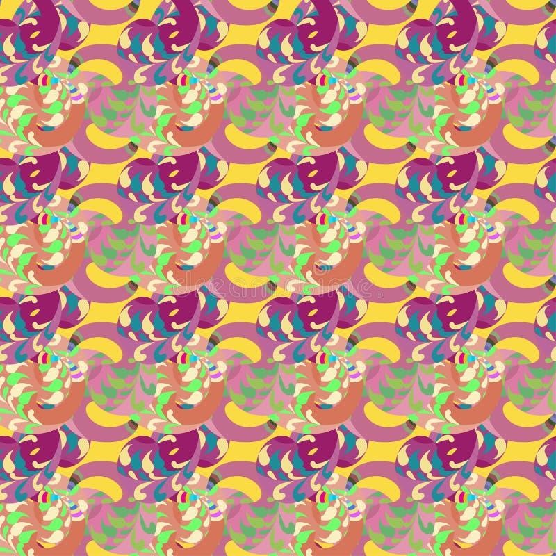 abstrakt seamless bakgrundsblomma vektor illustrationer