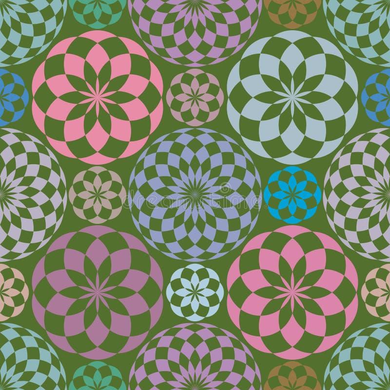 abstrakt seamless modellupprepning royaltyfri illustrationer