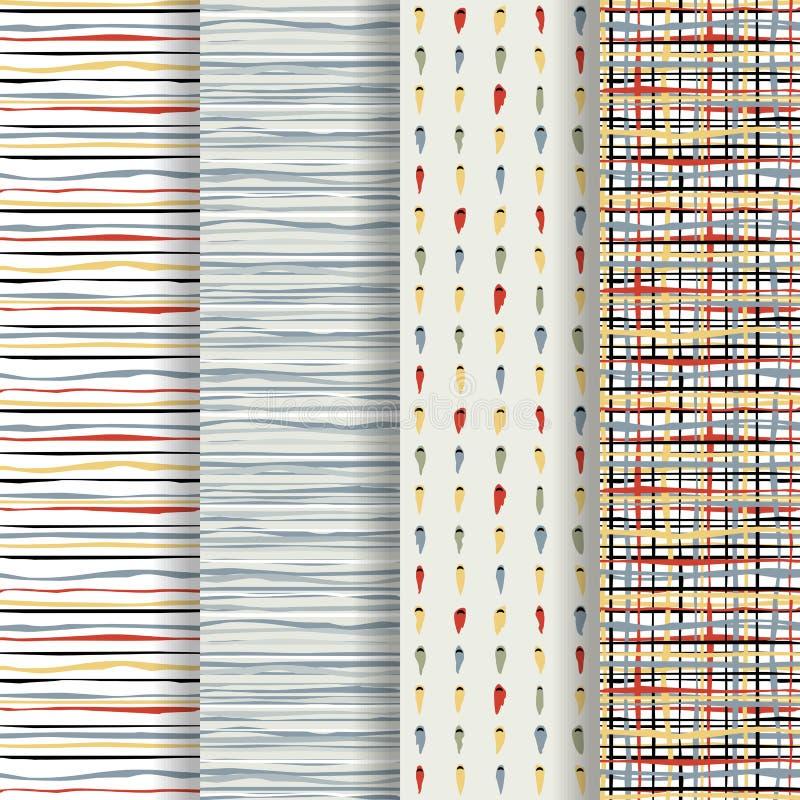 abstrakt seamless textur vektor illustrationer
