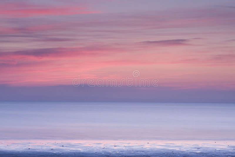 abstrakt seascapesolnedgång arkivfoton