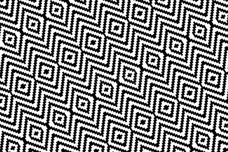 Abstrakt sicksackbakgrund seamless modell abstrakt mosaik för bakgrundsdesignillustration vektor illustrationer