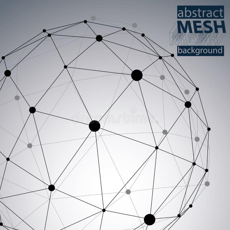 Abstrakt sieci szpotawy wektorowy tło ilustracji