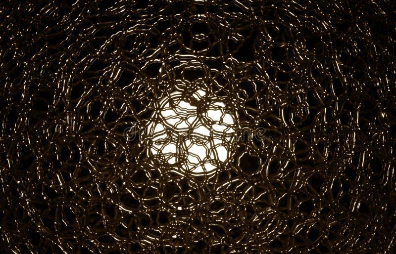 Abstrakt sikt av den elektriska lampan i brun signal royaltyfria bilder