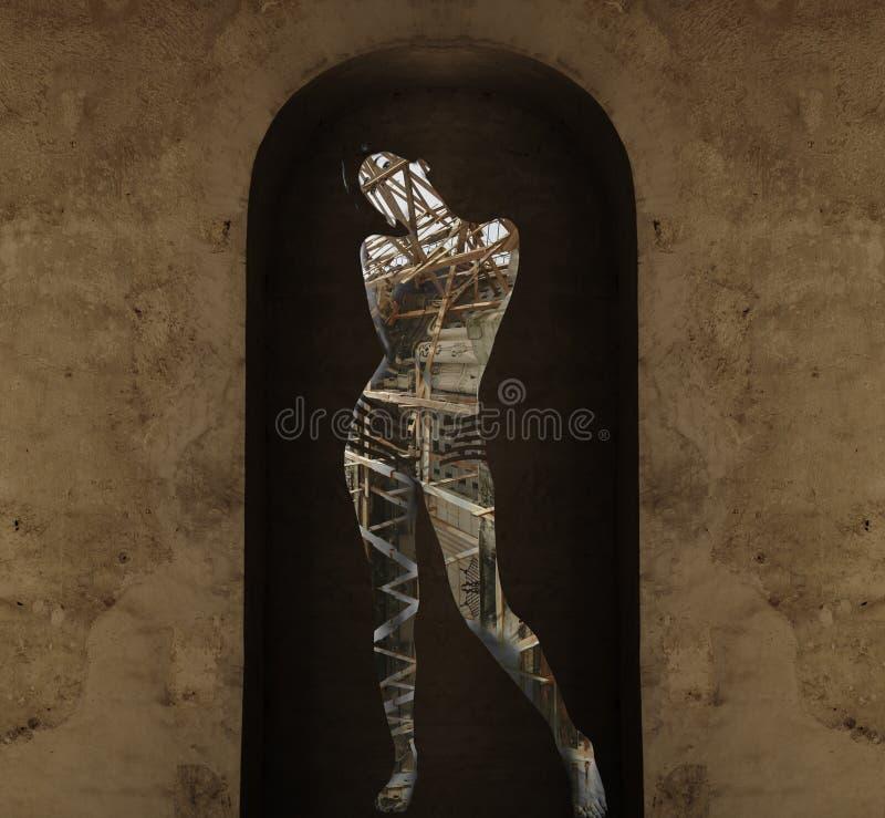abstrakt skönhetgrunge royaltyfria bilder