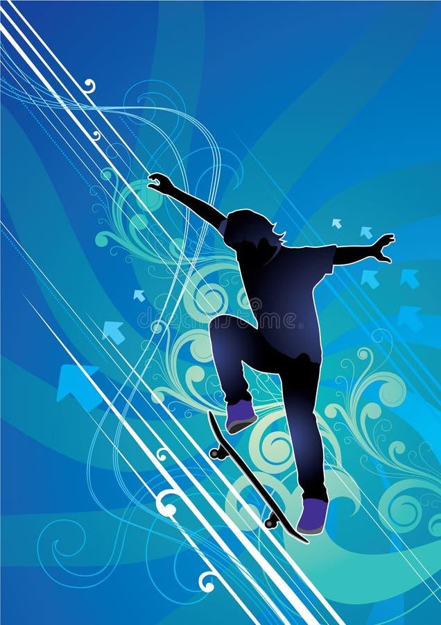 abstrakt skateboarder stock illustrationer