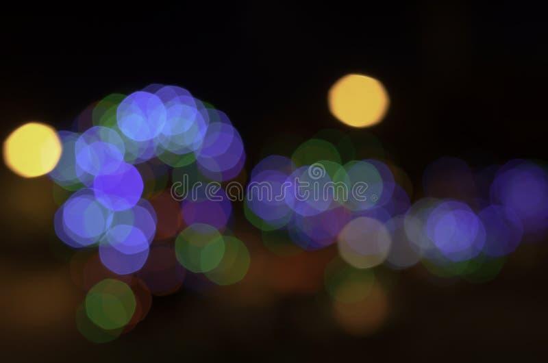 Abstrakt skupiający się kolorowy światła bokeh zdjęcia royalty free