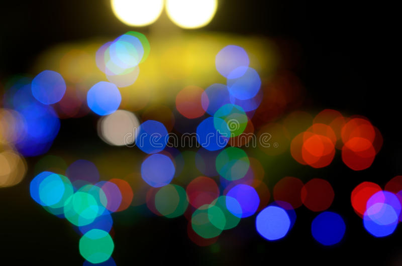 Abstrakt skupiający się kolorowy światła bokeh fotografia royalty free