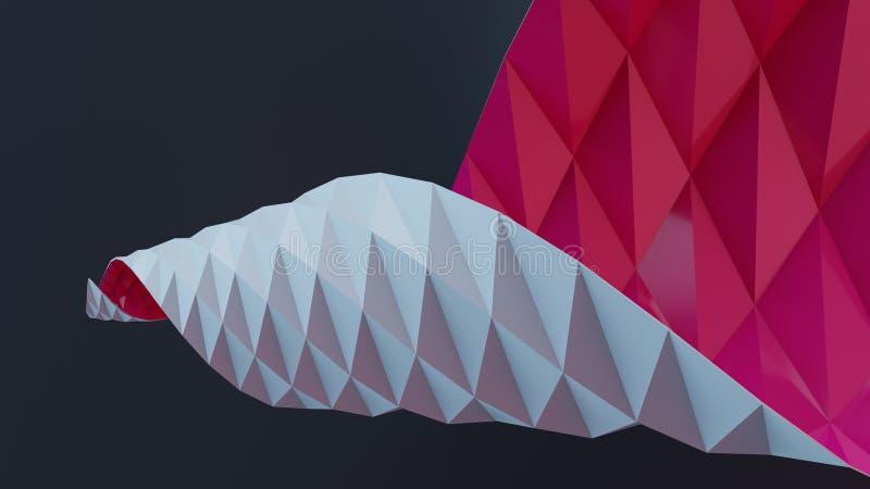 abstrakt sky f?r papper f?r bakgrundsfj?rilsorigami stock illustrationer