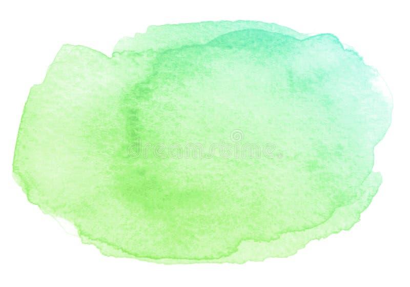 Abstrakt slaglängd för vattenfärggräsplanborste med pappers- textur på vit bakgrund vektor illustrationer