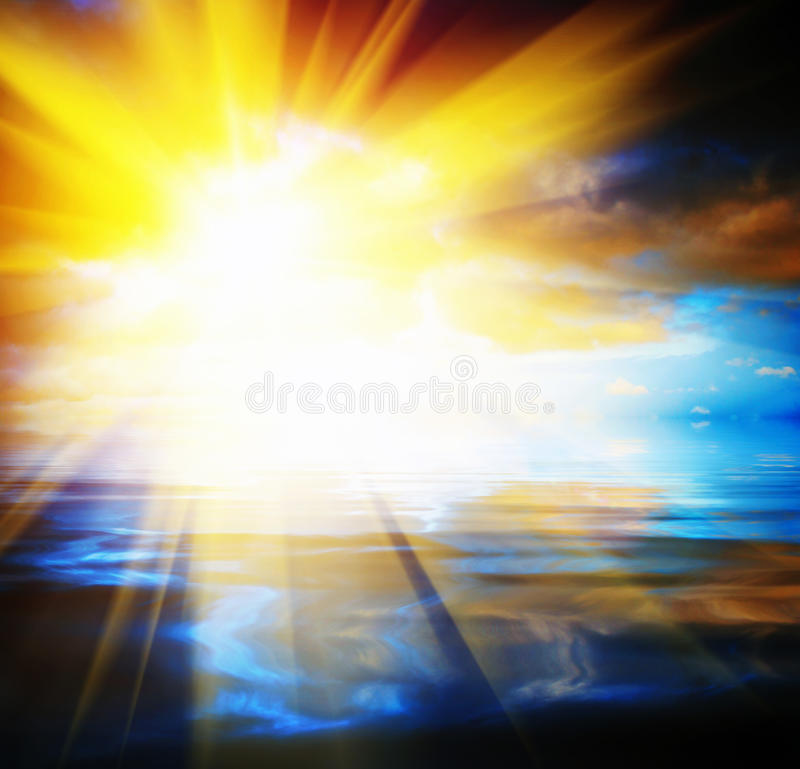 Abstrakt solbakgrund royaltyfri bild