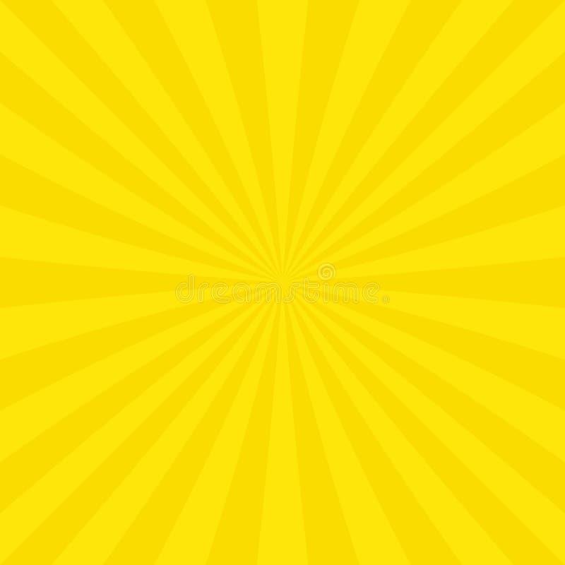 Abstrakt solbristningsbakgrund från radiella band vektor illustrationer