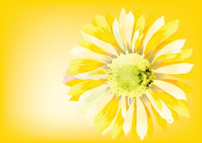 Abstrakt solros för solros för bakgrundsvektorillustration royaltyfri illustrationer