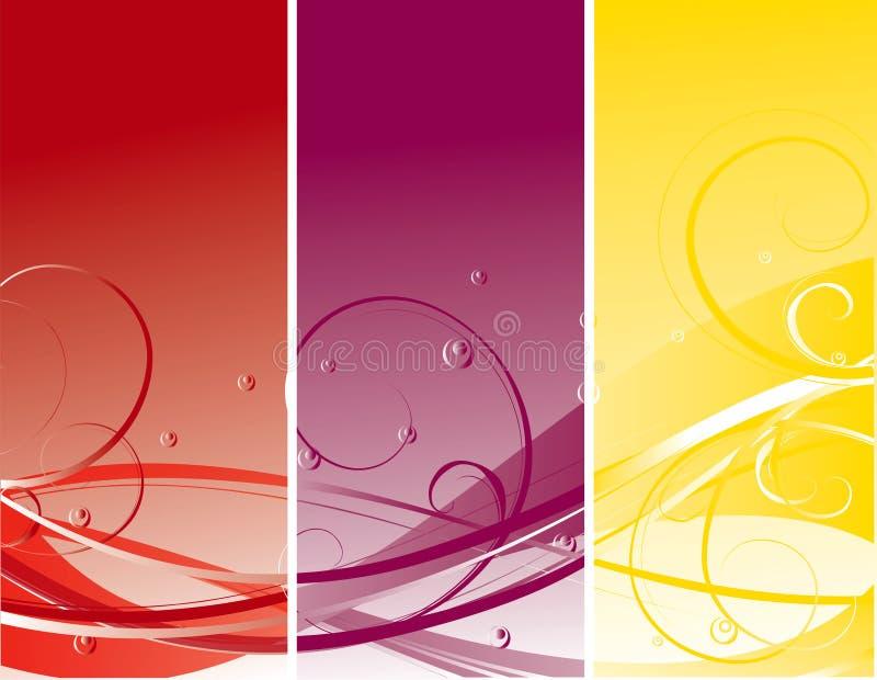 abstrakt sommar för blommaillustrationfjäder vektor illustrationer