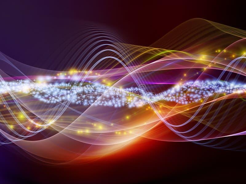 abstrakt sound waves stock illustrationer