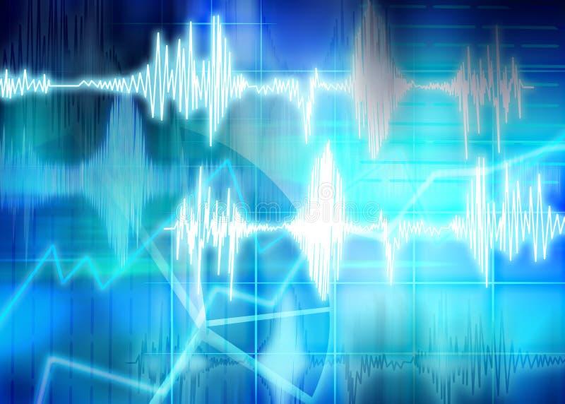 abstrakt sound waves royaltyfri illustrationer