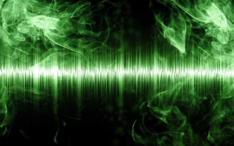 Abstrakt soundwave med rökformer royaltyfria bilder