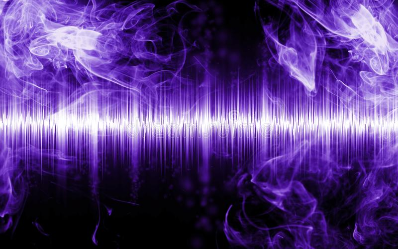 Abstrakt soundwave med rökformer arkivbild