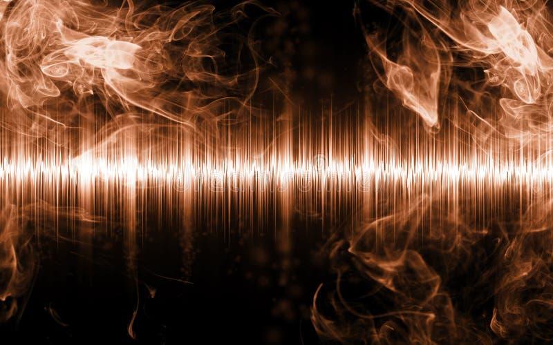 Abstrakt soundwave med rökformer arkivbilder