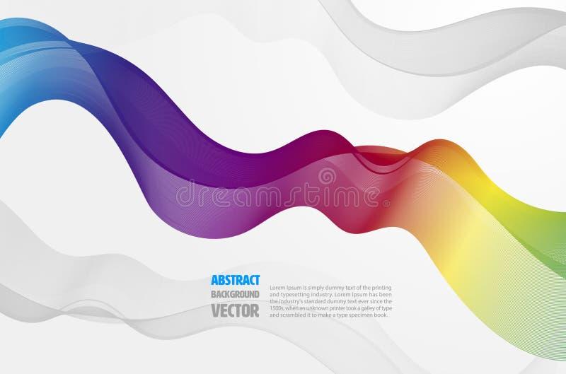 Abstrakt spektrumillustration och bakgrund stock illustrationer