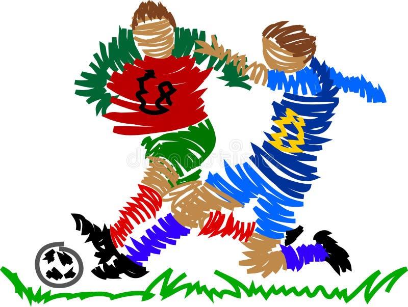 abstrakt spelarefotboll royaltyfri illustrationer