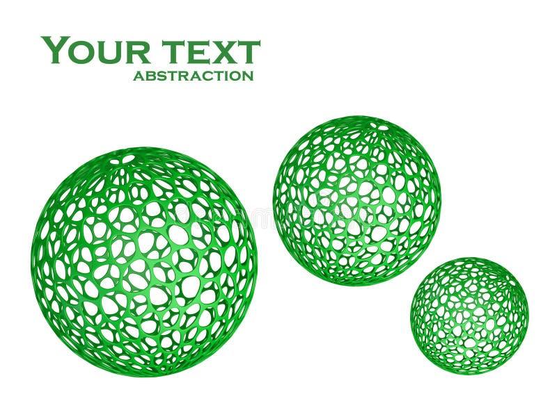 abstrakt sphere 3d vektor illustrationer