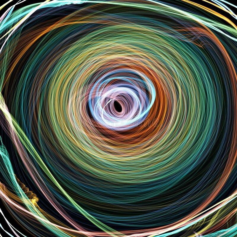 abstrakt spiral royaltyfri illustrationer