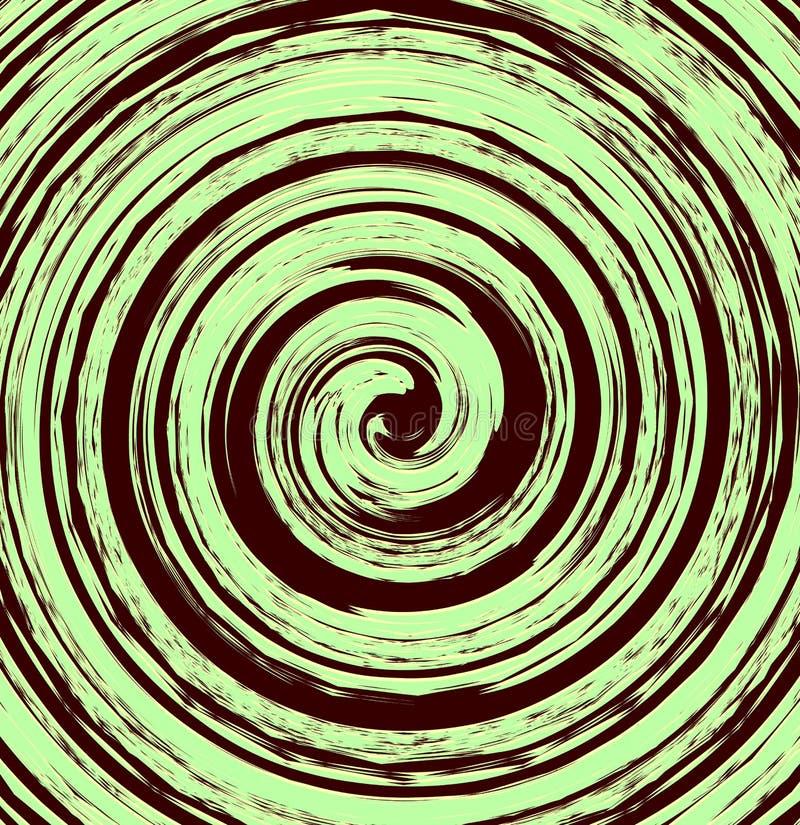 Abstrakt spiral beståndsdel i ojämnt slumpmässigt mode geometriskt vektor illustrationer