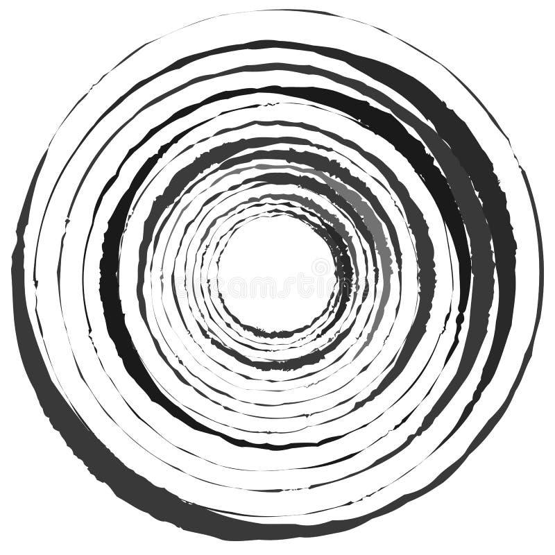 Abstrakt spiral beståndsdel i ojämnt slumpmässigt mode geometriskt royaltyfri illustrationer