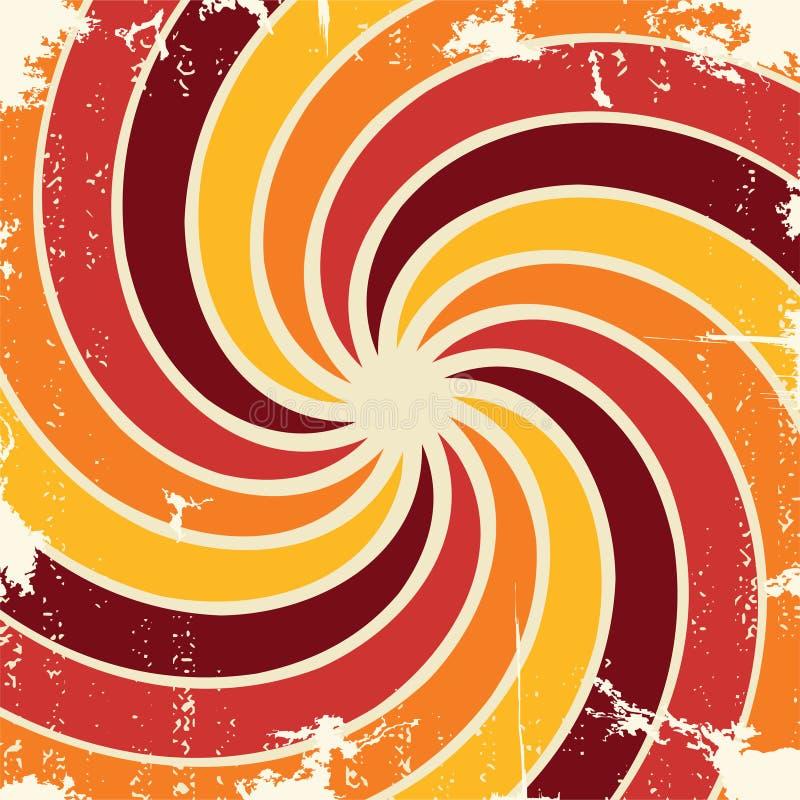 Abstrakt spiral grungemodellbakgrund vektor royaltyfri illustrationer