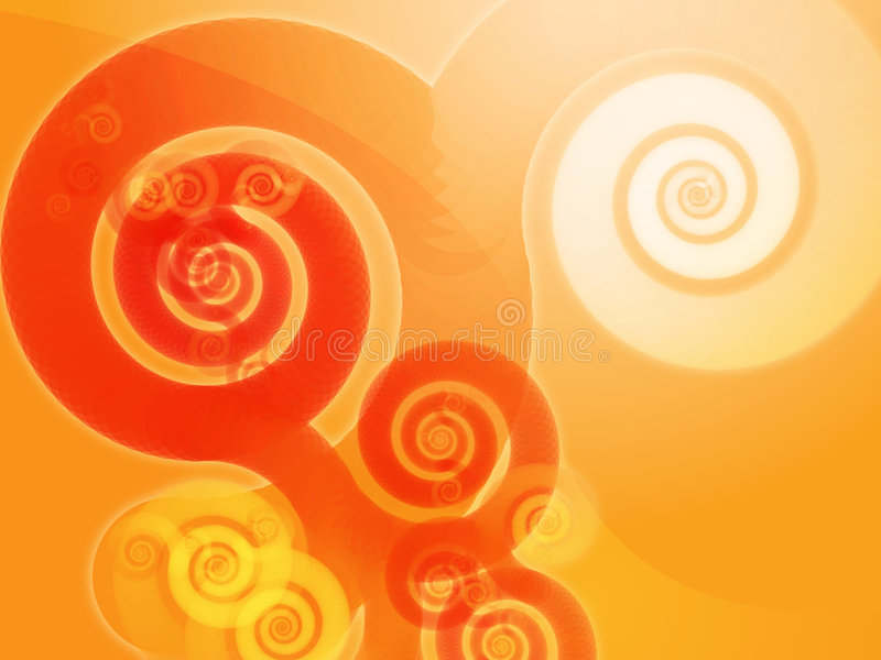 abstrakt spiralswirls royaltyfri illustrationer