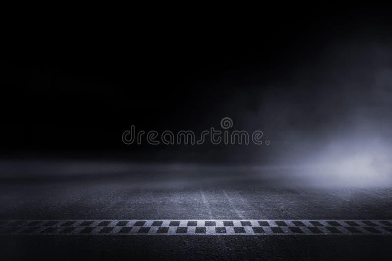 Abstrakt springa för mållinje för loppspår arkivfoto