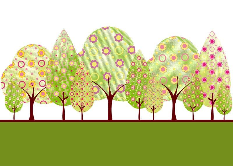 abstrakt springtimetree vektor illustrationer