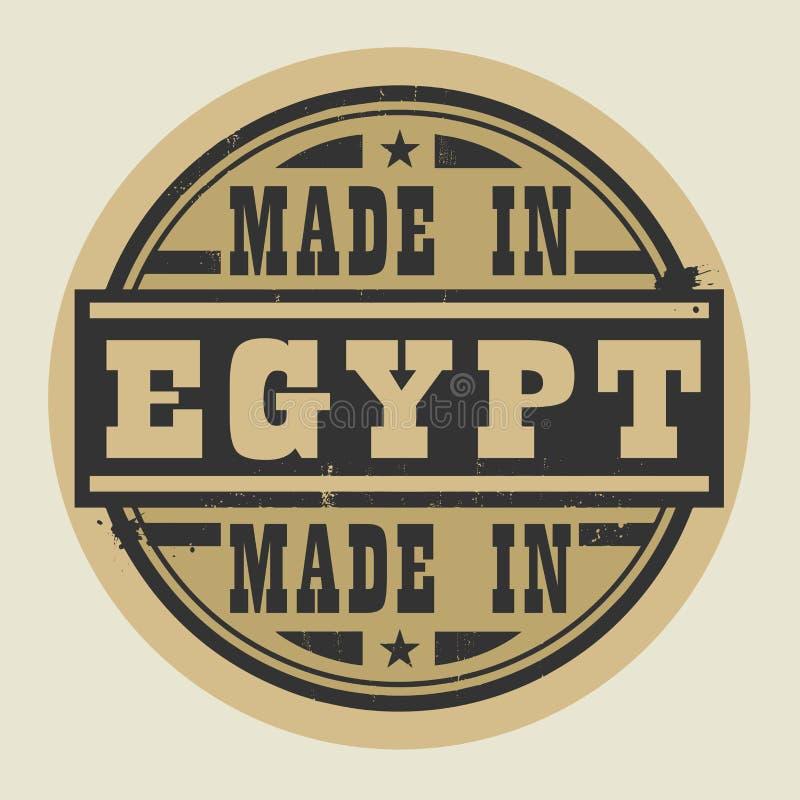 Abstrakt stämpel eller etikett med text som göras i Egypten vektor illustrationer