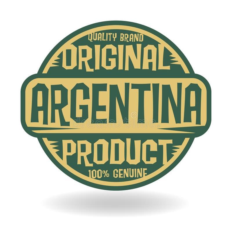 Abstrakt stämpel med den original- produkten för text av Argentina stock illustrationer