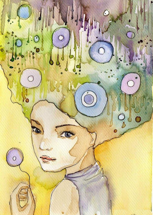 abstrakt stående stock illustrationer
