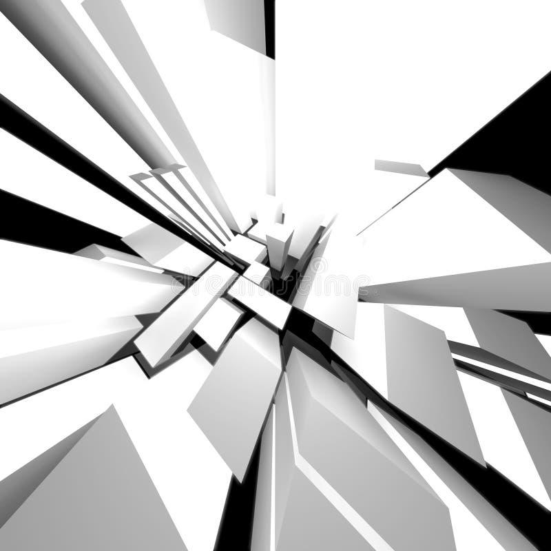 abstrakt stad vektor illustrationer