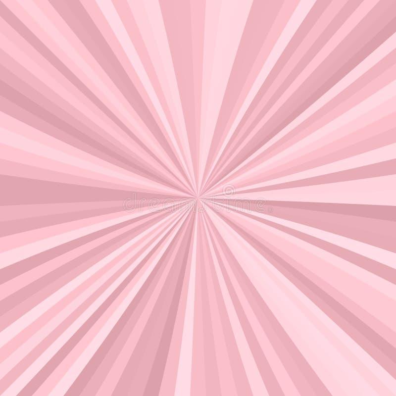 Abstrakt starburstbakgrund från radiella band royaltyfri illustrationer