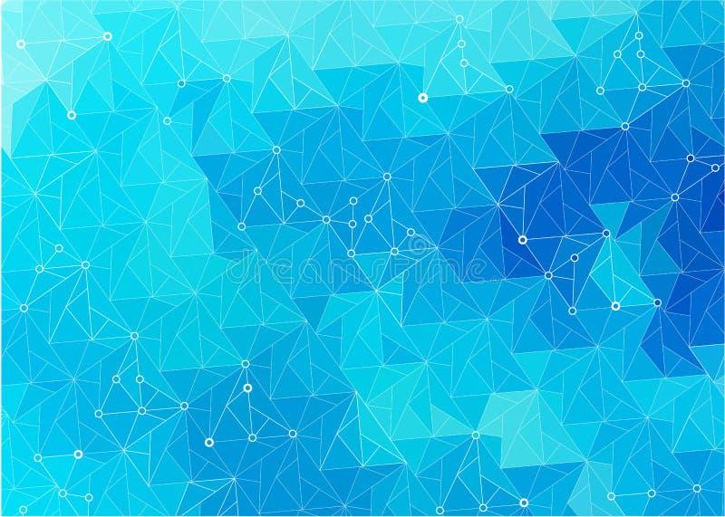 Abstrakt stiliserad bakgrund av triangelstycket av is royaltyfri illustrationer