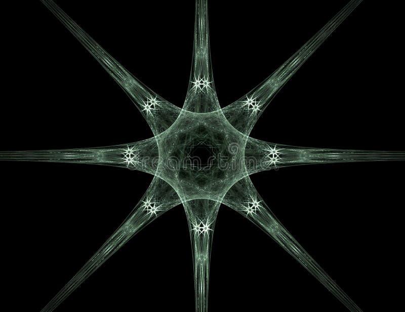 abstrakt stjärna för bakgrundsdesignfractal royaltyfri illustrationer