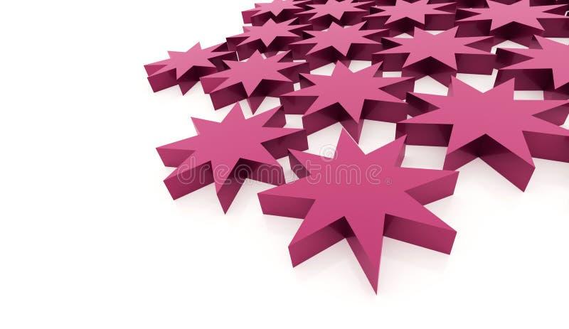 Abstrakt stjärnabakgrund för rosa färger stock illustrationer
