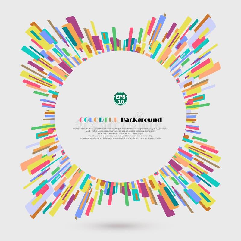 Abstrakt 360 stopień kredki linii kolorowy wzór Rekonesansowy nowy pomysł dla biznesowej prezentaci ilustracja wektor