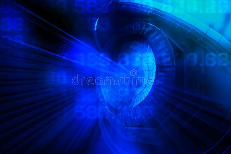 Abstrakt stor databakgrund Digital information om stor dataillustration Dataström Abstrakt bigdatabakgrund Stora data royaltyfri illustrationer